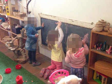 chalk board small school