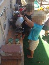 outdoor kitchen small school