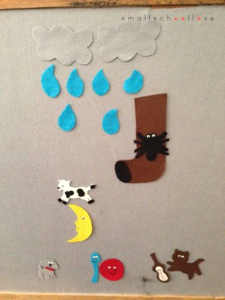 nursery rhyme felt board