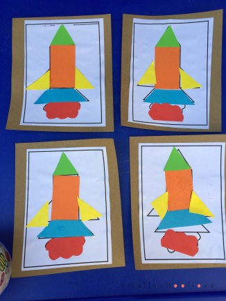 rocket puzzle art